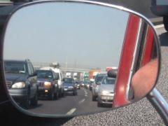 Autostrada vers Milan (Italie), août 2003