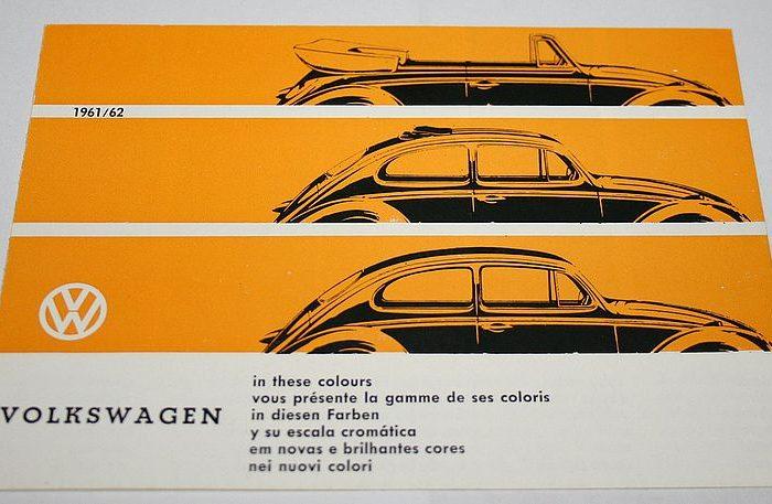 1960 : Historique et nuancier de couleurs