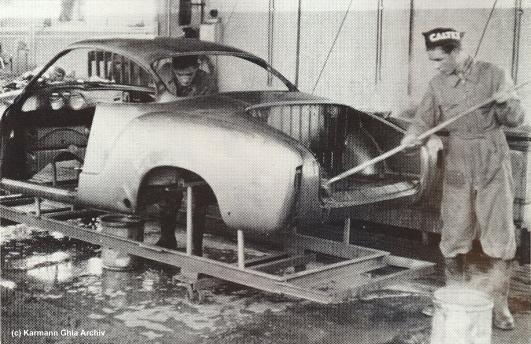 Karmann Ghia : Montage Suisse et Belge
